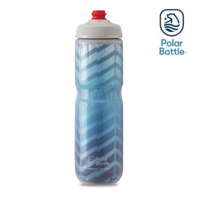 【Polar Bottle】24oz 雙層保冷噴射水壺 BOLT 藍-銀