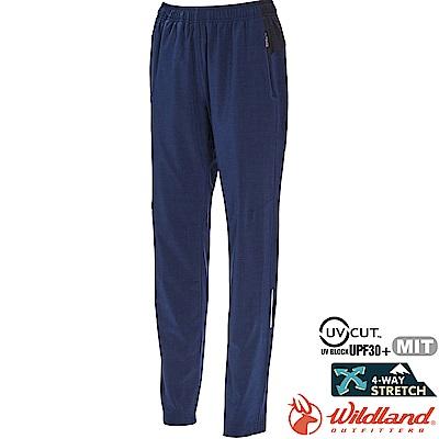 Wildland 荒野 0A71317-52海藍色 女透氣抗UV運動長褲
