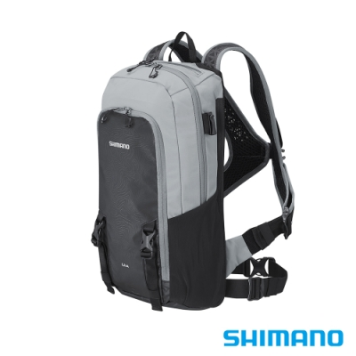SHIMANO UNZEN 登山車後背包-無水袋 14L 灰