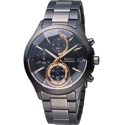 WIRED 日系潮流炫彩三眼計時腕錶 VR33-0AA0K(AY8011X1)-40mm