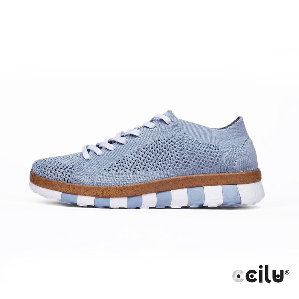 CCILU  舒適網布休閒運動鞋-女款-302365007冰河藍