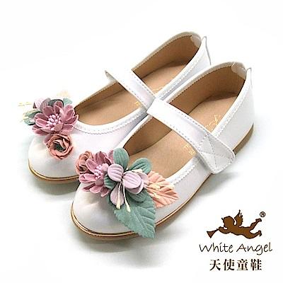 天使童鞋 杜樂莉花園公主鞋 J8006-白
