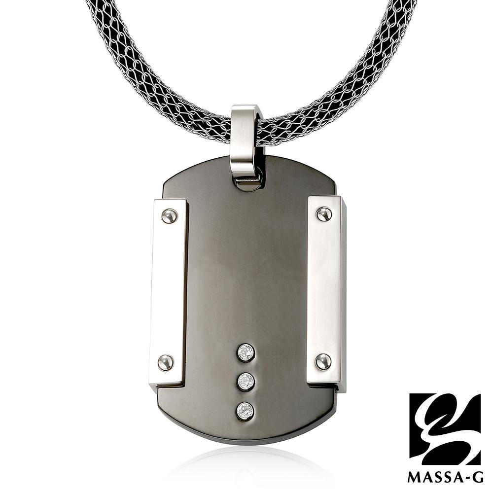 MASSA-G 情定日耳曼純鈦墬搭配 X1 4mm超合金鍺鈦項鍊