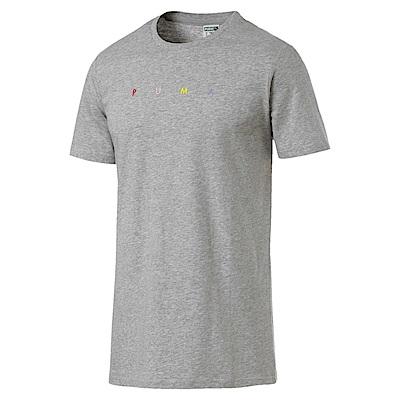 PUMA-男性流行系列Fierce Cat短袖T恤-淺麻花灰-亞規