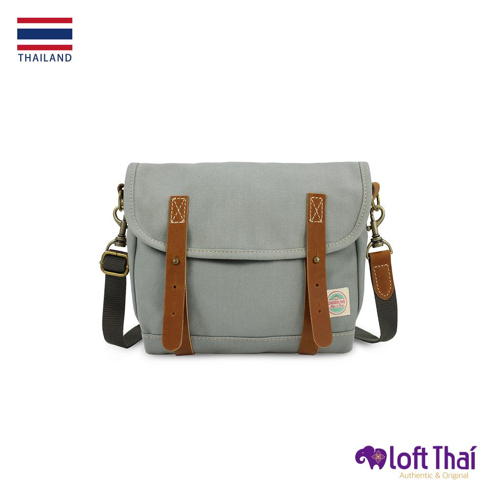 Loft THAI | 泰.真皮帆布復古郵差包 | Olive