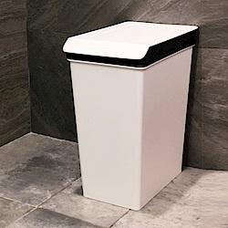 創意達人x樹德SHUTER康芮雪白掀蓋垃圾桶10L-3入組