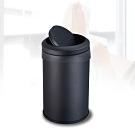 多魔潔 台灣製工業風質感霧面黑 防指紋搖蓋垃圾桶12L