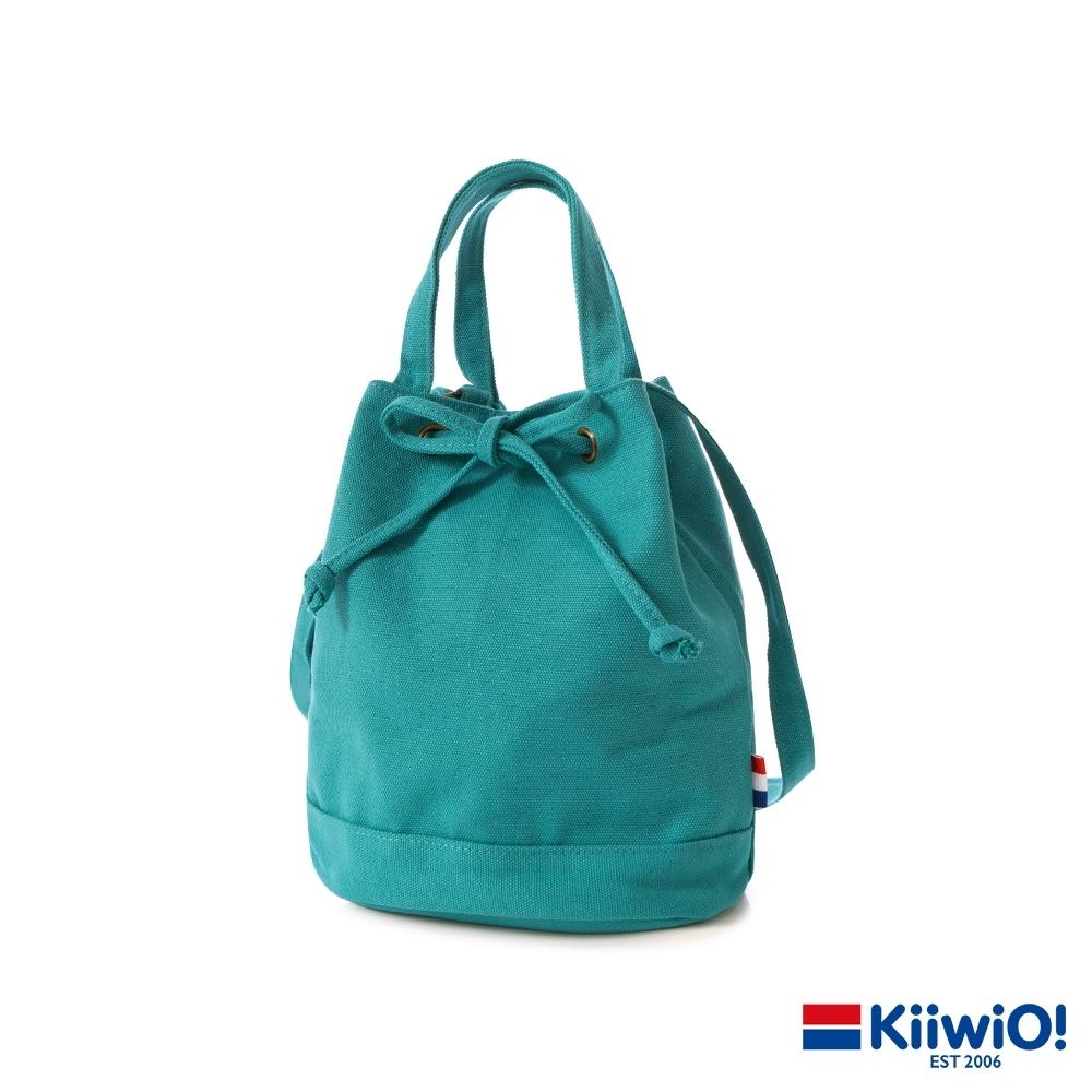 Kiiwi O! 日系百搭系列帆布水桶包 UMA 湖水綠