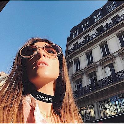 CHLOE金屬大框 太陽眼鏡 淡金鏡框+裸色/銀粉鏡片 CE120SD