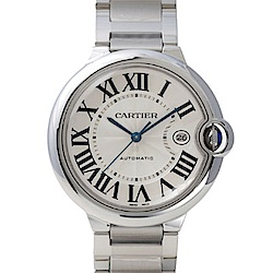 CARTIER Ballon Bleu 經典羅馬時標機械腕錶-42mm
