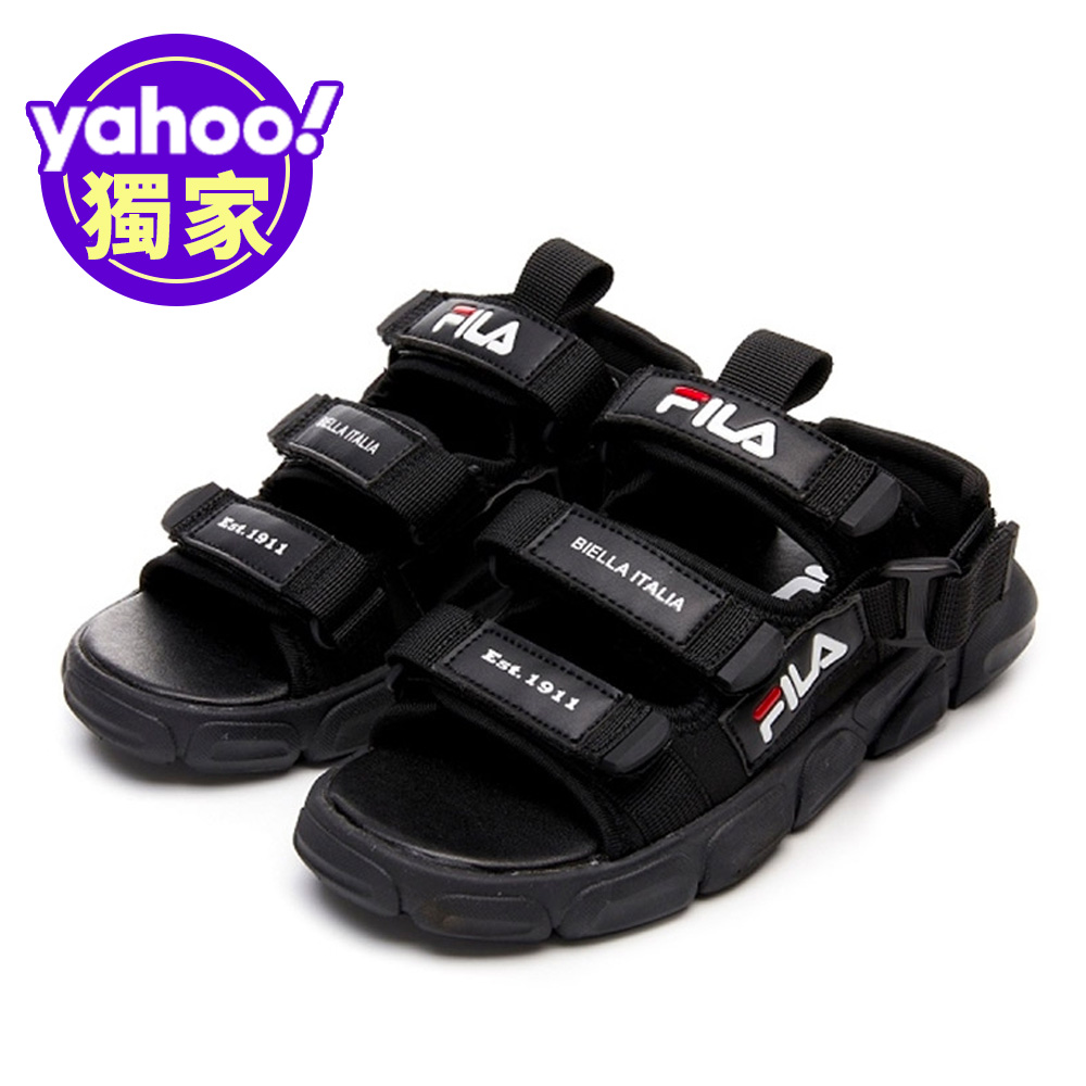 FILA KIDS 大童MD運動涼鞋-黑 3-S418V-001