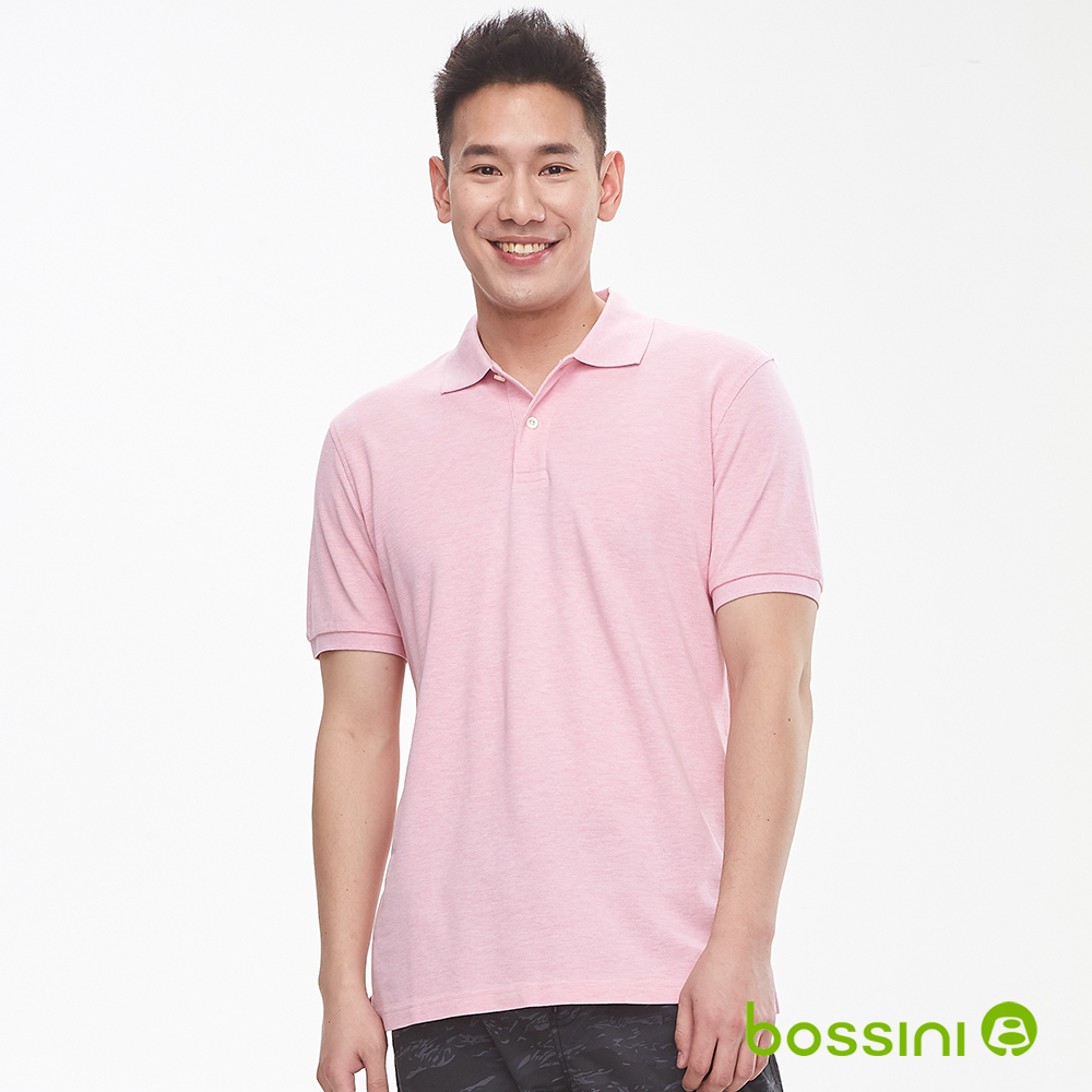 bossini男裝-純棉素色POLO衫19粉色