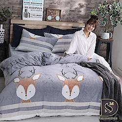 DESMOND岱思夢 單人_法蘭絨床包兩用毯被套三件組 小鹿斑比