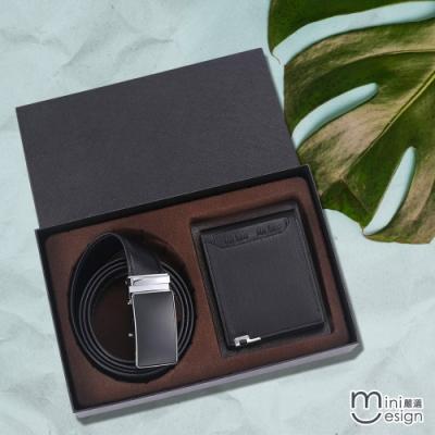 Mini嚴選-TAG皮帶+短夾精緻禮盒組