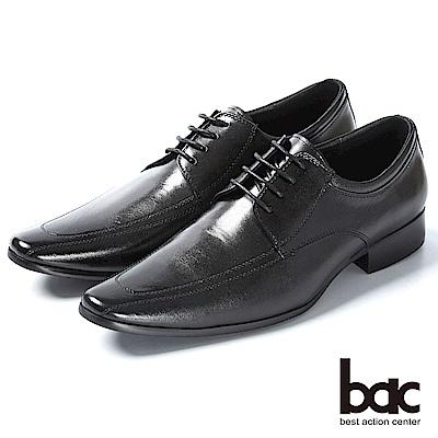 bac 帥氣自信 柔軟羊皮紳士皮鞋-黑