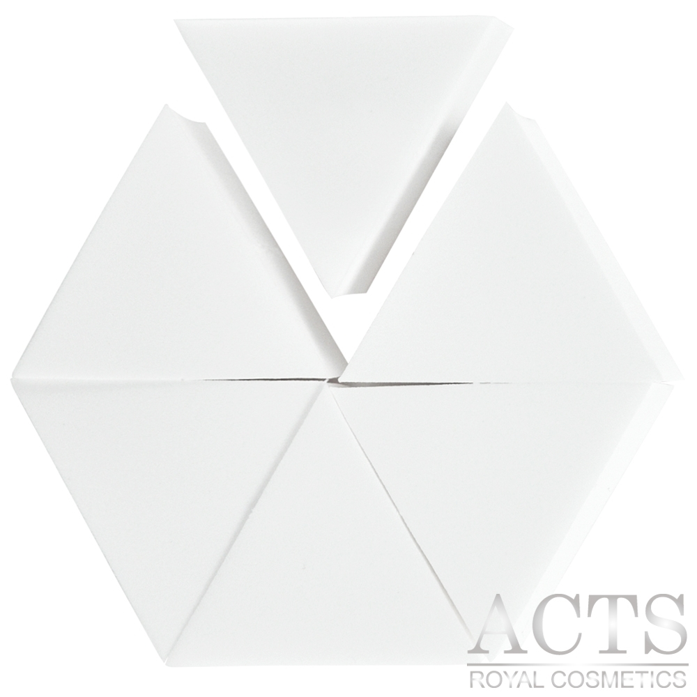 【滿千8折】ACTS 維詩彩妝 高密度Q海綿 正三角形 6片