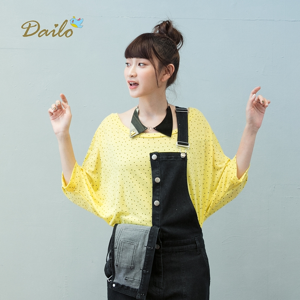 【Dailo】小星星飛鼠短袖-上衣(二色)