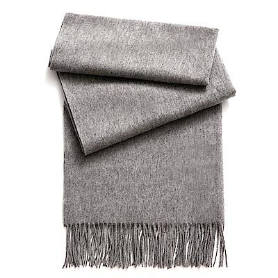 SOFER 素色100%羊毛保暖披肩 - 淺灰
