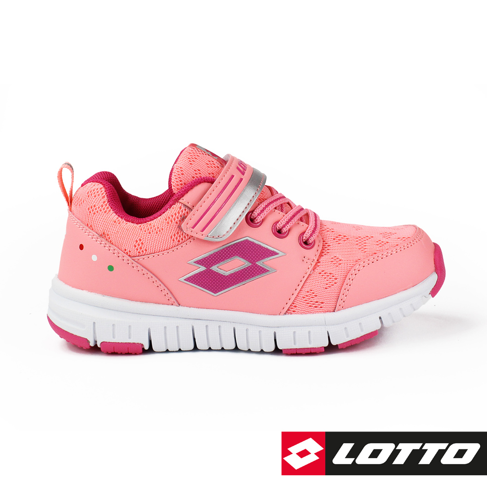 LOTTO 義大利 童 SPACERUN 太空漫步輕量跑鞋 (粉橘)