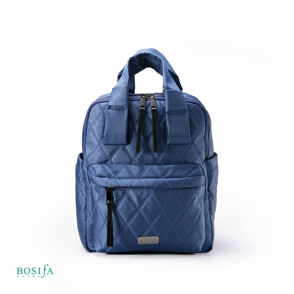 【BOSIfA】輕巧菱格紋後背包(經典藍181001BR)(暢貨出清)