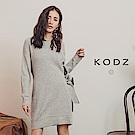 東京著衣-KODZ 優質冬日側邊綁結針織長版短洋裝(共一色)