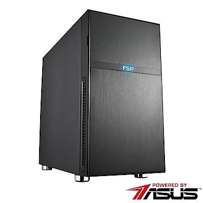 華碩B360平台[美編魔將]i7六核P1000繪圖工作站電腦