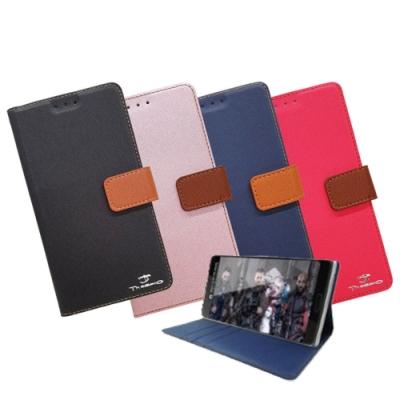 Theabio HTC Desire 20+ 斜紋撞色側掀皮套