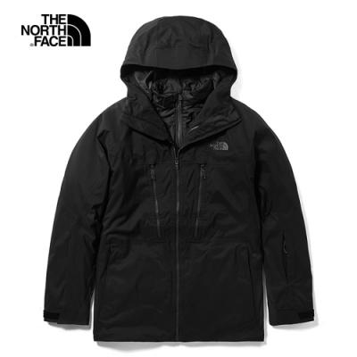 The North Face北面男款黑色三合一外套 3LZ1JK3
