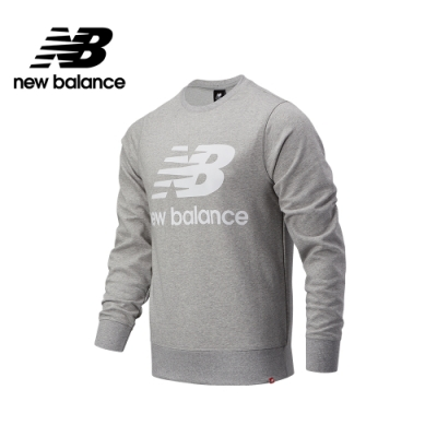 【New Balance】基本款 LOGO長袖厚T_男性_灰色_AMT03560AG