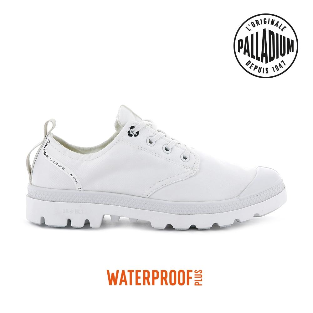 PALLADIUM OX LITE+ RCYCL WP+再生纖維低筒防水靴-中性-白