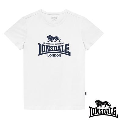 【LONSDALE 英國小獅】經典LOGO短袖T恤-白色LT001