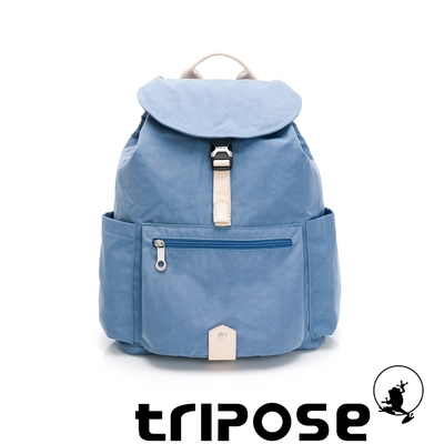 tripose MEMENTO微皺尼龍輕量後背包-大(蔚水藍)