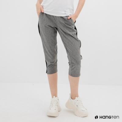Hang Ten-女裝-恆溫多功能-REGULAR FIT標準四向彈力吸濕快乾抗曬七分運動長褲-灰色
