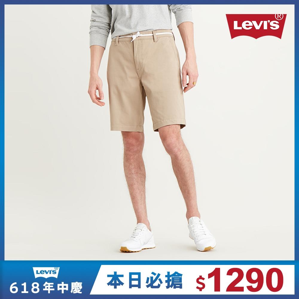 Levis 男款 Chino卡奇休閒短褲 Wonderknit 超彈力布料