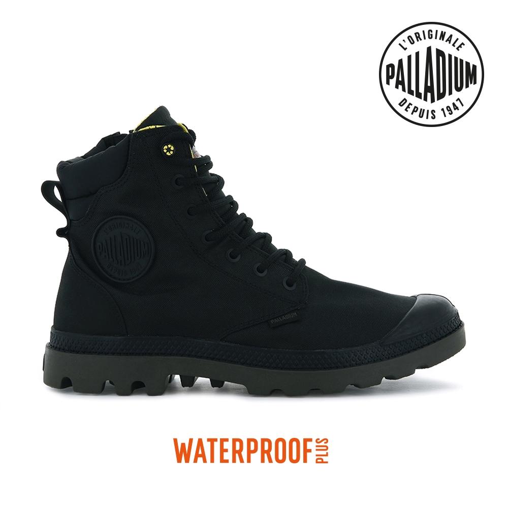 PALLADIUM PAMPA SC RCYCL WP+N再生科技拉鍊防水靴-中性-黑