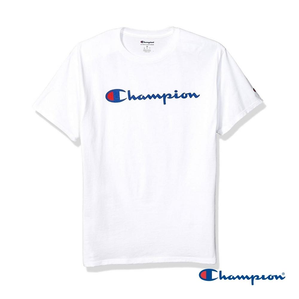 Champion草寫Logo印花短Tee 白色