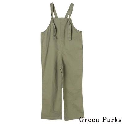 Green Parks 綁結吊帶連身工作褲