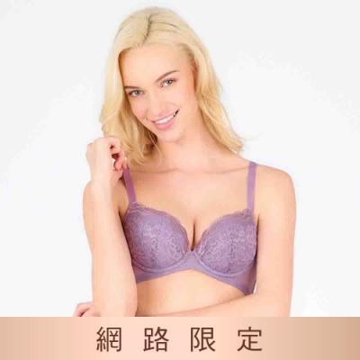 黛安芬-美型嚴選系列 蝴蝶美型包覆托高 B-E罩杯內衣 紫色