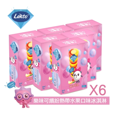 Lakto樂味可 繽紛熱帶水果口味冰淇淋(4入X6盒)