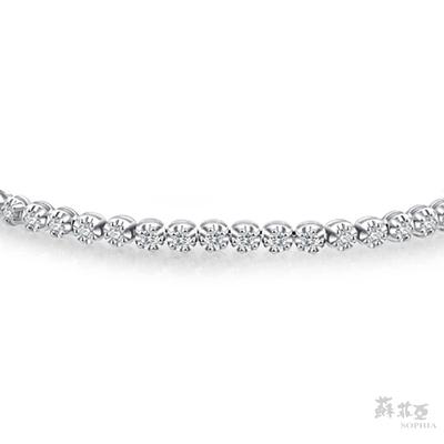SOPHIA 蘇菲亞珠寶 - 星河 14K白金 鑽石手鍊