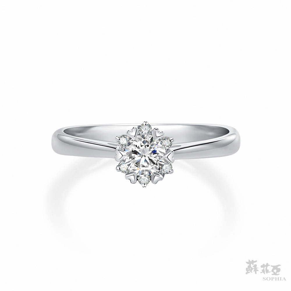 SOPHIA 蘇菲亞珠寶 - 費洛拉 GIA 0.30克拉D_SI1 18K白金 鑽石戒指