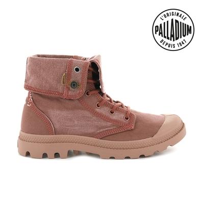 Palladium  PALLADENIM BAGGY單寧帆布靴-女-磚紅