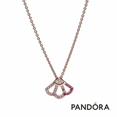 【Pandora官方直營】粉紅摺扇短鏈