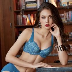 曼黛瑪璉 雙弧 內衣 A-C罩杯(天堂藍)