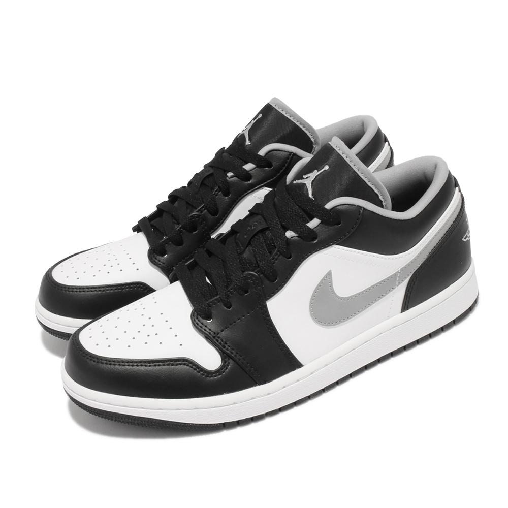 Nike 休閒鞋 Air Jordan 1代 Low 男鞋 低筒 小影子 喬丹 AJ1 皮革 黑 白 553558040