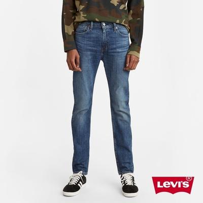 Levis 男款 510緊身窄管牛仔褲 中藍水洗刷白 仿舊紙標 彈性布料