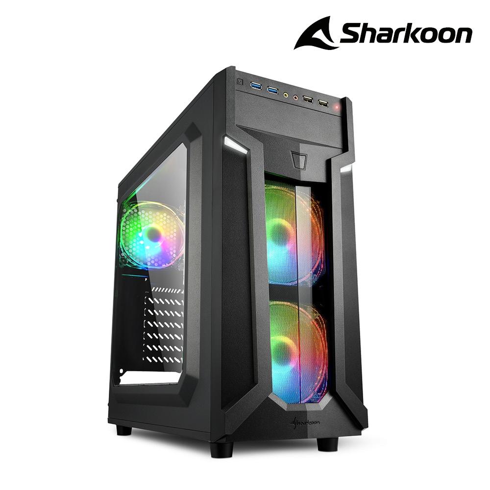 Sharkoon 旋剛 VG6-W RGB 馭風者 RGB 透側 ATX 電腦機殼
