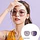 ALEGANT復古幾何香檳紫金色方框感光變色寶麗來偏光太陽眼鏡│UV400太陽眼鏡│科茲窩的薰衣花景 product thumbnail 1
