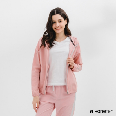 Hang Ten-女裝-恆溫多功能-四向彈力吸濕快乾抗曬防風外套-粉色