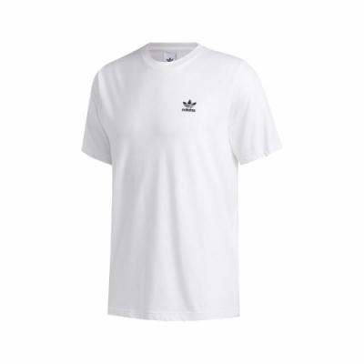 adidas T恤 Trefoil Essentials T 男款 愛迪達 三葉草 圓領 棉質 基本款 穿搭 白 黑 FM9966
